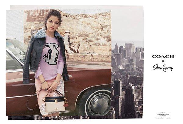 Selena Gomez - suéter-coelho-saia-midi - bolsas - inverno - Nova York