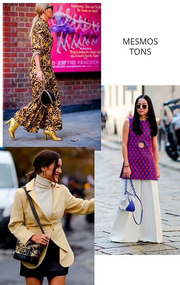 combinando - tons - bolsa - roupa - look