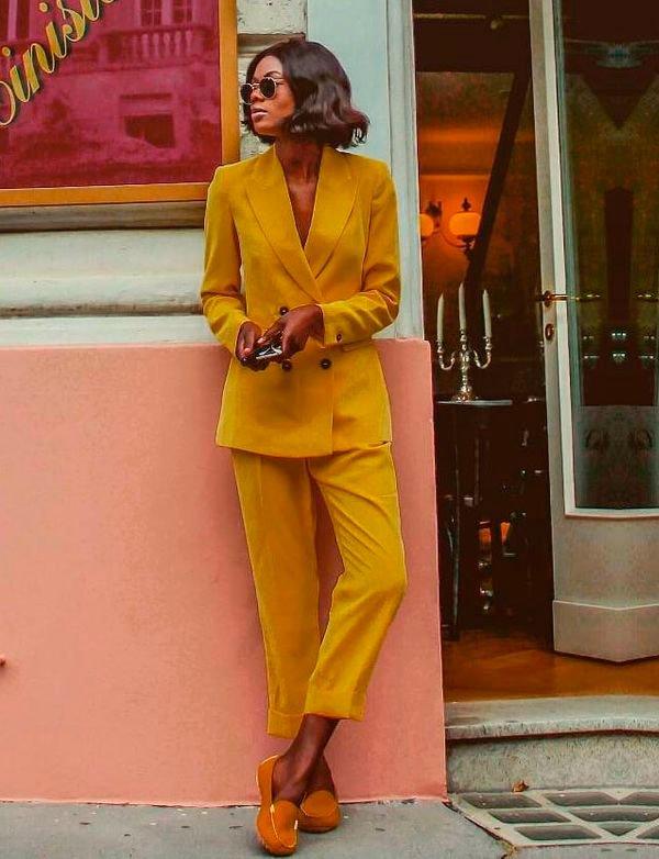 blazer - amarelo - look - moda - comprar
