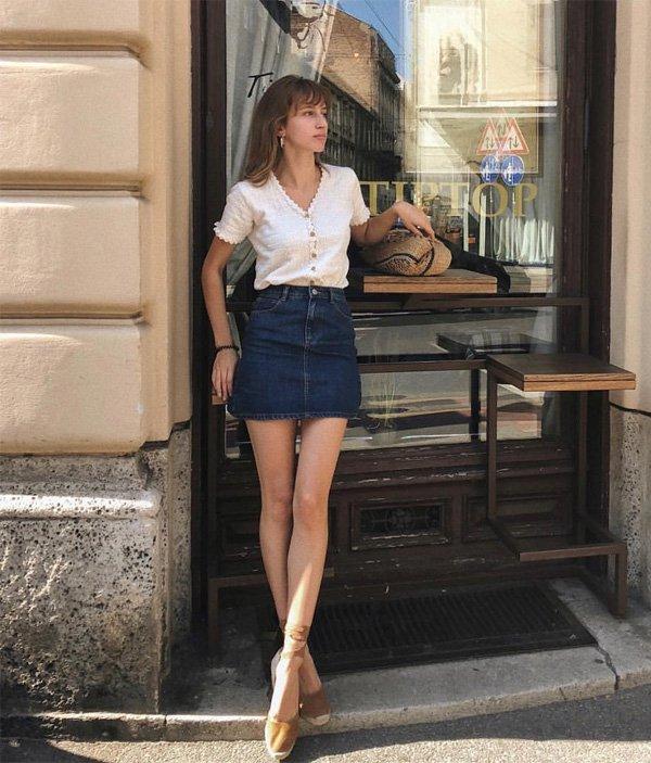 Ines heli - saia-jeans-bata - saia jeans - verão - street style