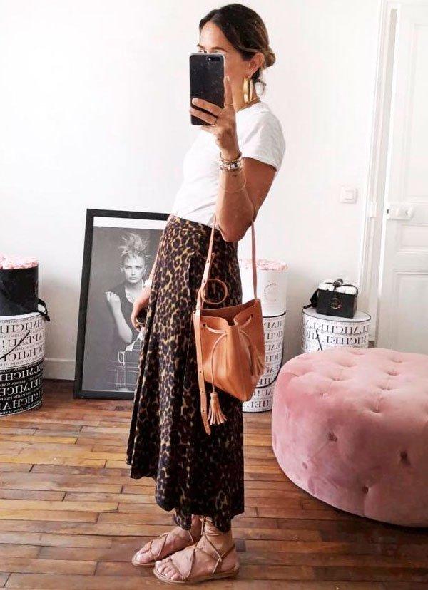 look - skirt - oncinha - trend - moda