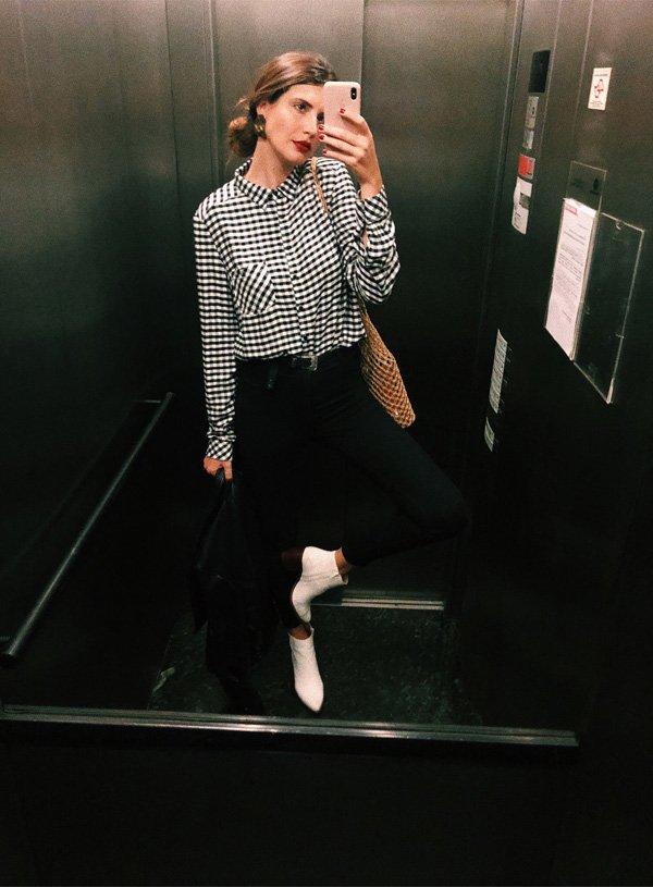 Manuela Bordasch - camisa-xadrez-calca-bota - camisa - verão - str