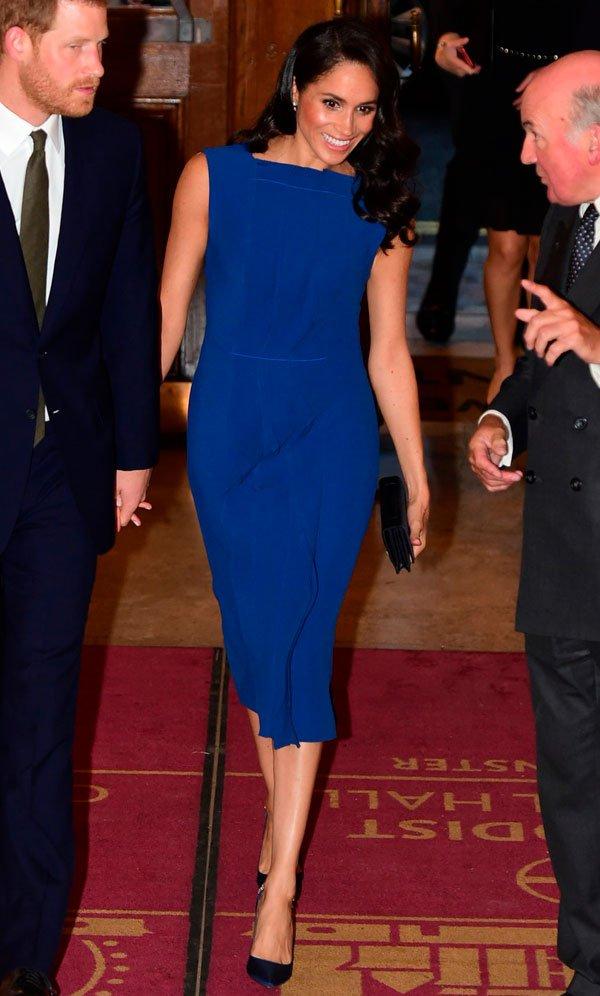 Meghan Markle - vestido-azul - azul - verão - The 100 Days To Peace Gala