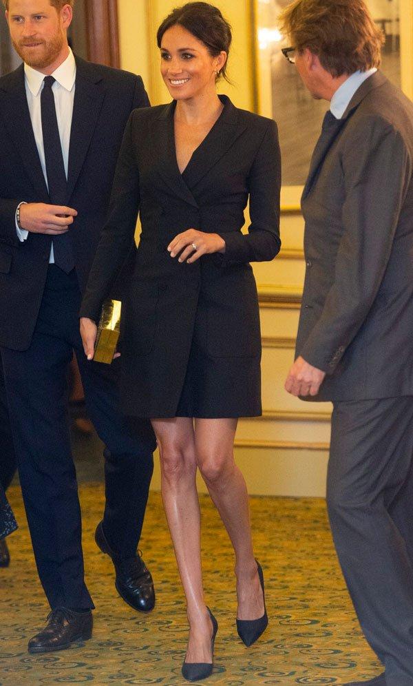 Meghan Markle - vestido-blazer - alfaiataria - outono - street-style