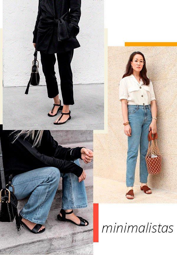 minimalistas - trend - sapato - moda - looks