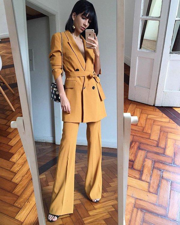 Nathalie Billio - blazer-calca-amarelo-sandalia - blazer - verão - street style