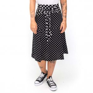 Poa Skirt Size: P - Color: Black And White