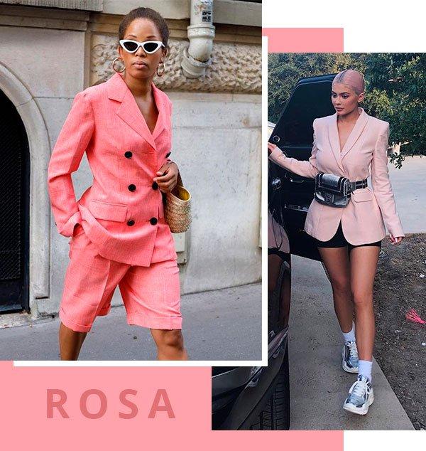 rosa - looks - street - style - moda