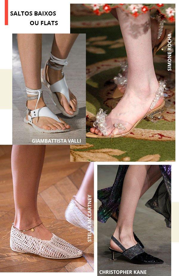 saltos - baixos - flat - look - moda