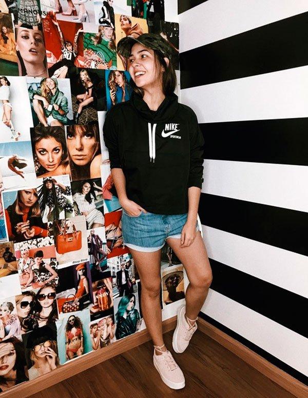 Samara Tavares - moletom-nike-short-jeans-tenis - moletom - meia estação - street style