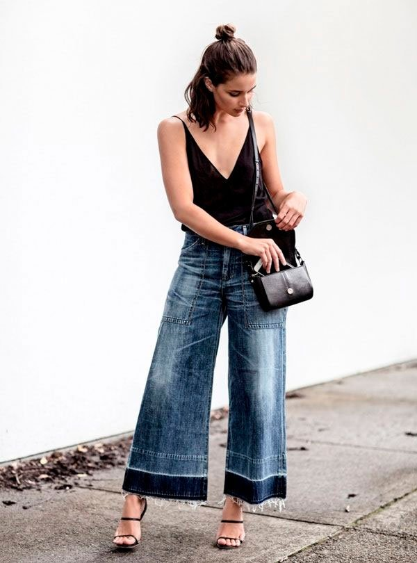 sara donadson - look - pantacourt - jeans - trend