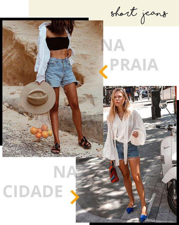 short jeans - publi - rip curl - praia - looks