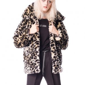 Casaco Faux Fur Leopard Print Polly  Tamanho: G  - Cor: Marrom
