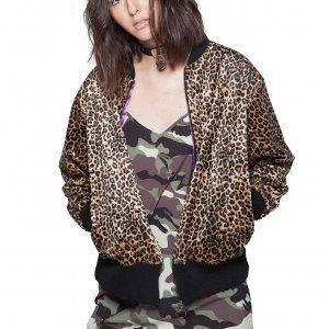 Bomber Leopard Tamanho:  Pp - Cor:  Marrom