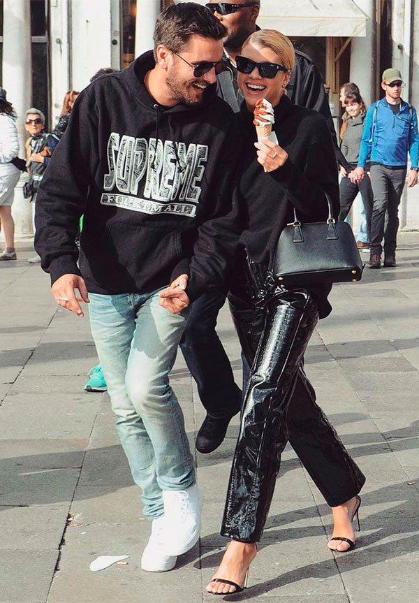 Sofia richie - scott disick - street style - casal - style