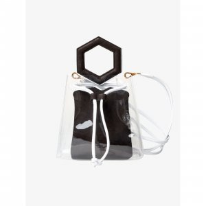 Bolsa Tiracolo Transparente @francesca Tamanho: U - Cor: Preto E Branco