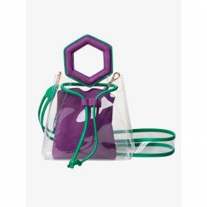 Bolsa Tiracolo Transparente @francesca Purple Tamanho: U - Cor: Roxo