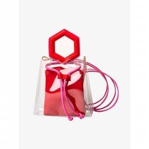Bolsa Tiracolo Transparente @francesca Red Tamanho: U - Cor: Vermelho