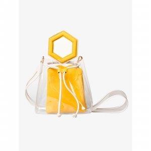 Bolsa Tiracolo Transparente @francesca Yellow Tamanho: U - Cor: Amarelo