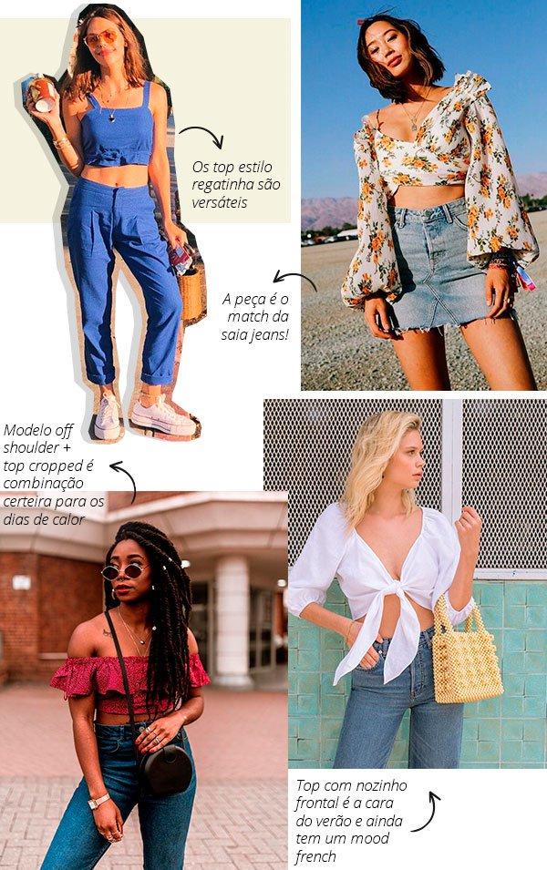 top cropped - look - insta - street style - moda