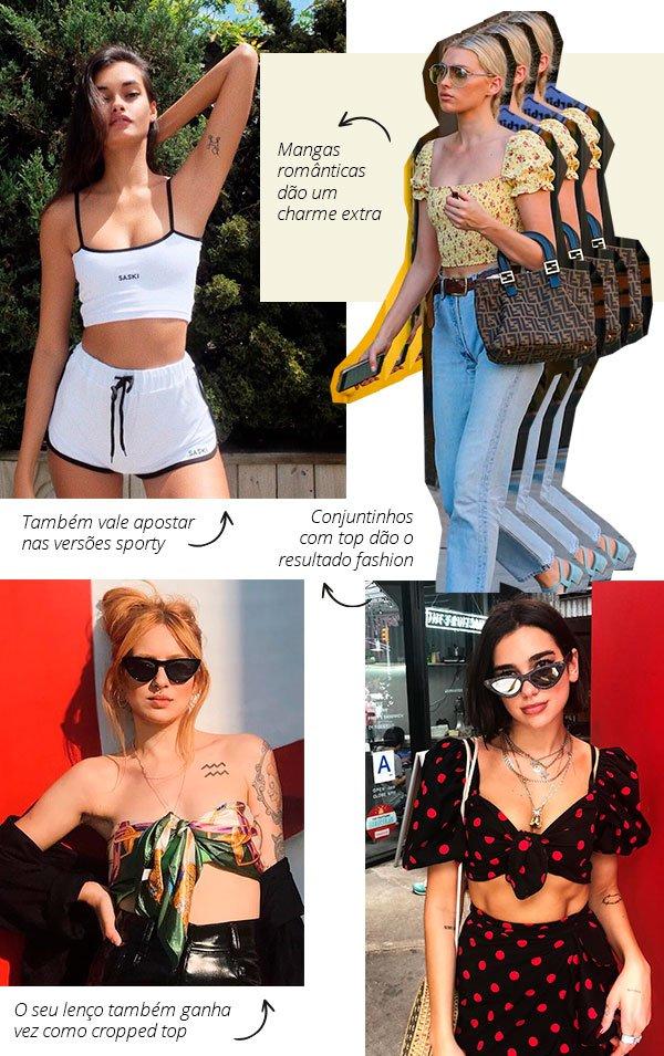 top cropped - look - moda - insta - street style