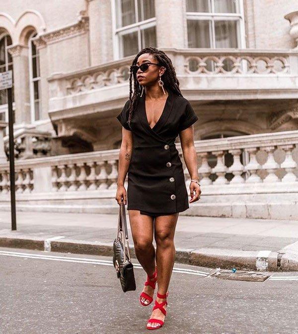 Uzy Nwachukwu - dress-black-street-style - dress-black - summer - street-style