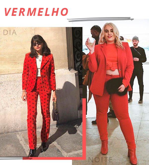 vermelho - moda - look - terninho - dia noite