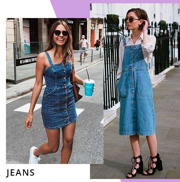 vestido - jeans - looks - comprar - moda