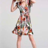 Vestido Transpassado Tropical