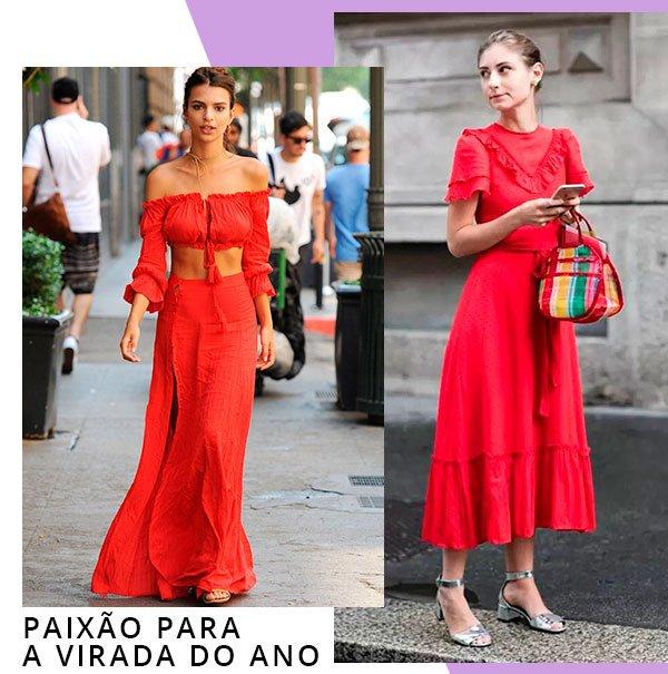 vestido - vermelho - looks - comprar - moda