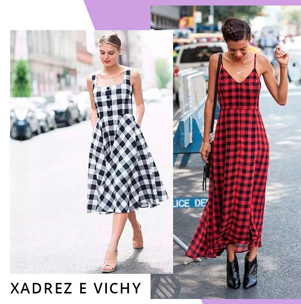 vestido - xadrez - looks - comprar - moda