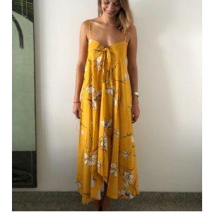 Vestido Lenço Tamanho: P - Cor: Amarelo