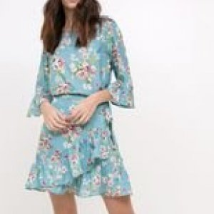 Vestido Floral Transpassado