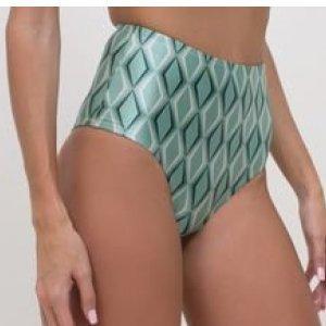 Biquíni Calcinha Hot Pants Estampa Geométrica