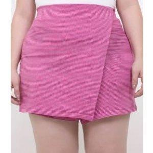 Short Saia Xadrez Vichy Curve & Plus Size