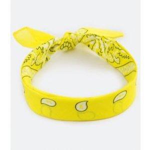 Bandana Amarela Estampada