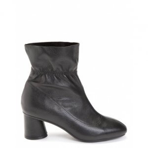Elastic Leather Short Boot