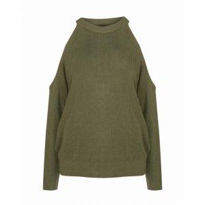 Suéter Recorte Ombro Tricot