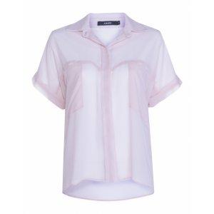 Camisa Manga Curta Wide Chiffon