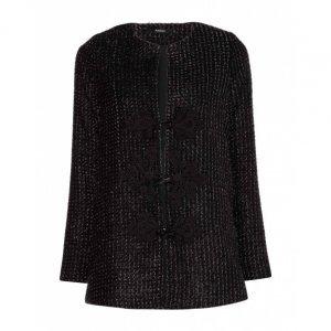 Casaco Tweed Detalhe Metalizado