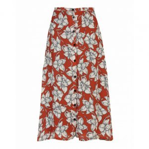 Midi Lightweight Push Button Skirt