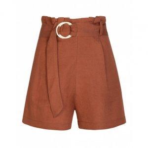 Shorts Clochard Linho Com Cinto