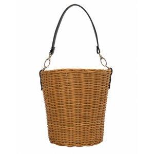 Straw Bucket Bag