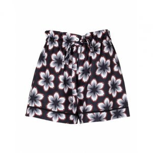 Shorts Clochard Acetinado Laço