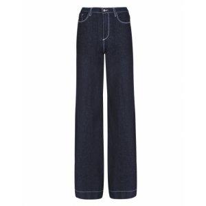 Calça Jeans Wide Linha Contraste