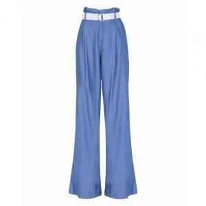 Calça Jeans Wide Cinto Lona