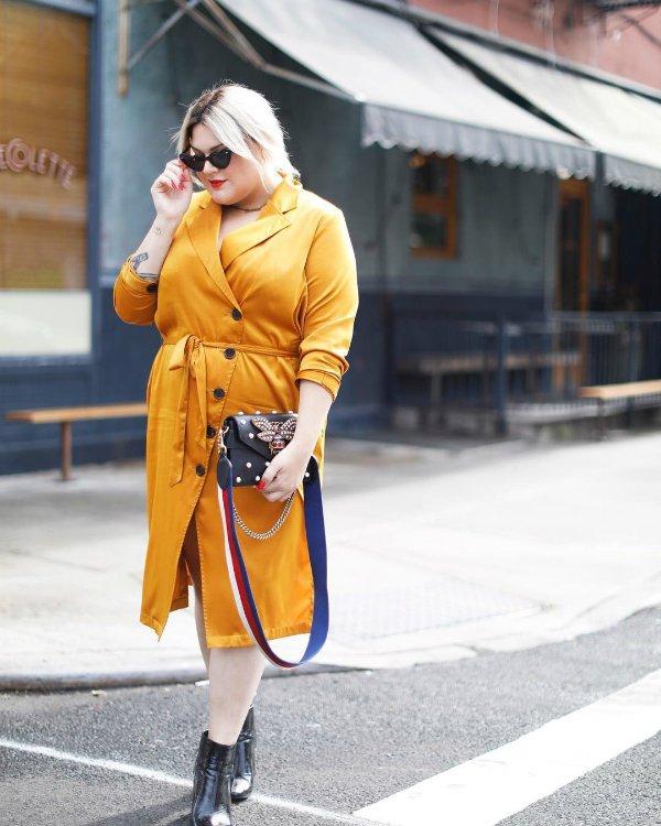 Nicolette Mason - yellow-dress - color - summer - street-style