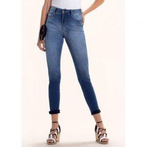 Calça Jeans Na Base Shangai Com Viscose E Lavação