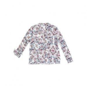 Camisa Manga Longa Em Tecido De Viscose Com Fio Metálico
