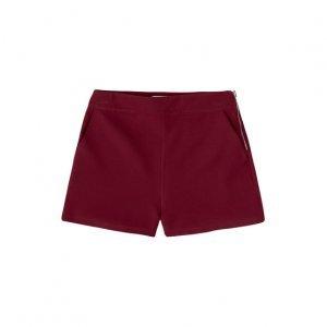 Shorts Em Tecido Com Zíper Lateral